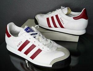adidas Samoa shoes White/Burgundy Retro VTG 2004 Men's US Size 7 (EUR 40) 675031