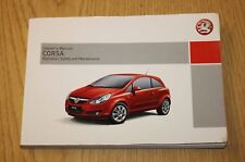 GENUINE VAUXHALL CORSA D OWNERS MANUAL HANDBOOK  2006-2011 BOOK