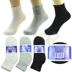 3,6,12 Pairs Diabetic Crew Circulatory Socks Health Women Cotton 9 10-15