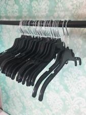 "50 Retail Hangers Black Plastic 15"" to 17inches Clothes Hanger Lot Swivel Hook"