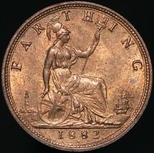 More details for 1882 h   victoria farthing   bronze   coins   km coins
