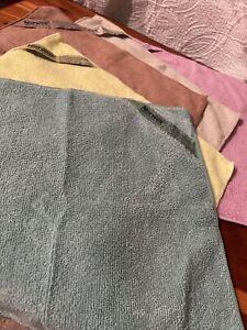 Norwex Microfiber Body Cloth Lot Set 5 Cloths Brand New Green Yellow Brown Pink