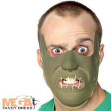 Cannibal Mask Men Fancy Dress Halloween Horror Restraint Adult Costume Accessory