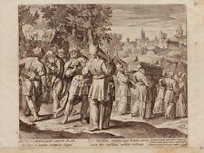 ETCHING ACQUAFORTE BULINO JAN SADELER MARTIN DE VOS STORIA SAUL E DAVID 1595 (2)