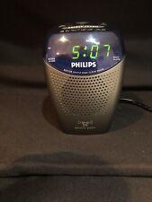 Philips Clock Radio Aj3130 Led Gentle Wake Alarm Am Fm & Buzzer Sleep 9V Battery