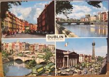 Irish Postcard DUBLIN MULTIVIEW Four Courts GPO Liffey O'Connell Hinde 112 1966