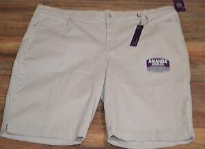 Gloria Vanderbilt Pebblestone Amanda Elysee Bermuda Jean Shorts Plus Size