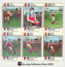 RARE-1974 Scanlens VFL Trading Card Full Team Set Fitzroy (11)--EXCELLENT