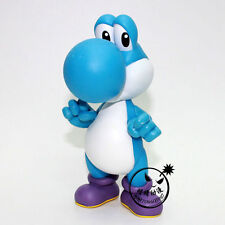 12CM Blue Super Mario Brothers/Bros YOSHI Action Figure Toy