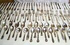 Old Silverplate Vintage Flatware Lot Silverware Knives Forks & Spoons 103 Pcs