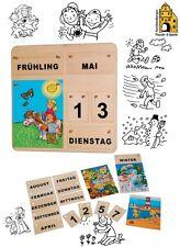 Jahreskalender Dauerkalender aus Holz Kalender Vier Jahreszeiten 22 Teile 428-60