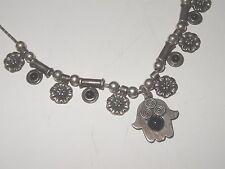 israel SILVER Necklace hamsa mark S.RAMON hebrew Pendant 925 for girl / women