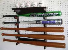 5 Baseball Bat Display Rack Hanger Holder, Mahogany Finish. B17-MAH