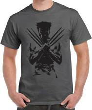 Distressed Logan Wolverine Xmen Superhero T-shirt