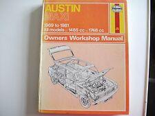 Austin Maxi 1969 - 1981 Haynes Workshop Manual