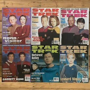 Star Trek The Official Monthly Magazine 1995 #52 Thru To #57 6 Issues Odo McCoy