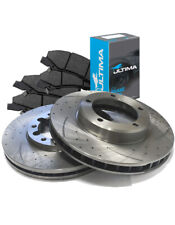 SLOTTED DIMPLED Front 296mm BRAKE ROTORS & PADS COMMODORE VT VX VY VZ
