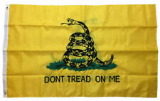 2x3 Embroidered Nylon Double Sided Gadsden Tea Party Flag - DONT TREAD ON ME