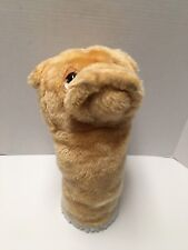 Plush Polyester Dog Hand Puppet / Golf Club Cover