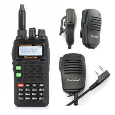 Wouxun KG-UV899 VHF/UHF 136-174/400-520MHz FM Ham Two-way Radio IP55 + Speaker