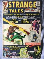 Strange Tales #128 - Dr. Strange, Early Quicksilver&Scarlet Witch Stan Lee1965