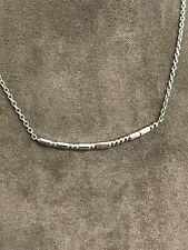 """Welsh Clogau Silver & Rose Gold Cariad Morse Code Necklace (18"""") £40 OFF"""