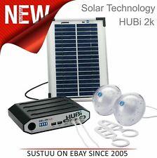 Solar technology Hubi 2K Solar Power Beleuchtung Set mit Netzteil │ HUBI102AMC
