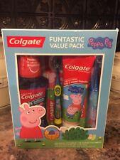 Colgate Peppa Pig Oral Care gift set Toothbrush, Toothpaste, Mouthwash Gift Set