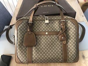 Gucci Unisex Beige/Brown Briefcase/Laptop Bag.  Leather, Diamanté, 267898 - 9788