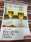 """Stella Artois Beer Poster Sign Bar Man Cave """"Don't Rush Hour"""" 18""""x25"""""""
