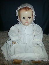 "1943 Effanbee 21"" DYDEE BABY DOLL Rubber Torso BLONDE CARACUL HAIR Antique VTG"