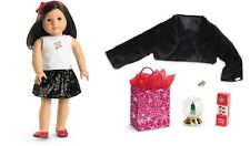 🎄💕AMERICAN GIRL DOLL Sequined Skirt OUTFIT & Holiday ACCESSORIES Retired NEW💕