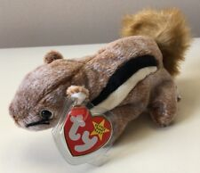 Ty Beanie Baby CHIPPER Squirrel. Retired. New. Apr 21, 1999. Mint. With Errors.