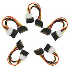 5pcs 15Pin SATA Male to 4Pin IDE Molex Female + SATA Female Power Cable hv2n