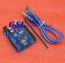 NEW UNO R3 ATMEGA328P-AU ATMEGA8U2 BOARD FOR ARDUINO +USB Cable M11