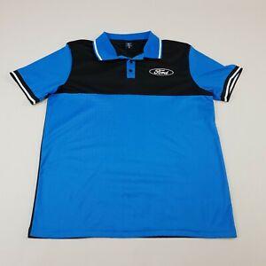 Ford Mens Medium Polo Shirt Blue Black Official Merchandise
