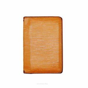 Louis Vuitton Pocket Organizer Wallet - Mandarin Epi Leather