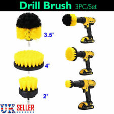3PCS Drill Brush For Valeting Detailing Bathroom Tile Grout Car Carpet Cleaning