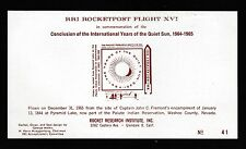 1965 US rocket mail RRI IQSY imperf souvenir sheet of 1 - EZ66A1a