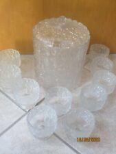 Vintage Eisglas Bowle mit 10 Gläsern