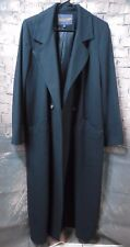 Vintage Pendleton Black Wool  Trench Coat Jacket Size 10