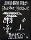 Armoured Angel Bestial Warlust Anatomy Patch Metallica Megadeth Slayer Archgoat