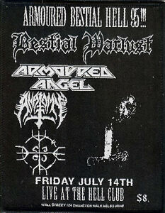 Armoured Angel Bestial Warlust Anatomy Patch Metallica Megadeth Slayer Archgoat