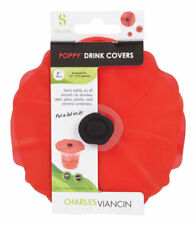 Charles Viancin  4 in. W Red  Drink cover