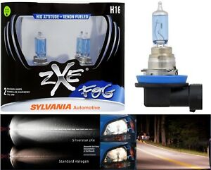 Sylvania Silverstar ZXE H16 64219 19W Two Bulbs Fog Light Replacement Upgrade OE