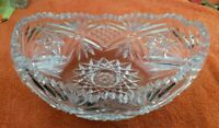 Cut Crystal Glass Fruit Bowl Antique / Vintage