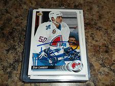 1992-93 UPPER DECK # 251 DAN LAMBERT AUTOGRAPHED CARD QUEBEC NORDIQUES