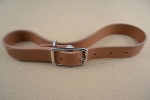 "Breast Collar Tugs - 1"" - Tan Biothane - 1 pair (F276)"