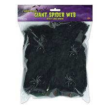 Giant Black Spider Web Decoration Creepy Webbing