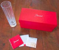"Baccarat 8"" Crystal Art Glass Harmonie Straight Flower Vase w/Box Made France"